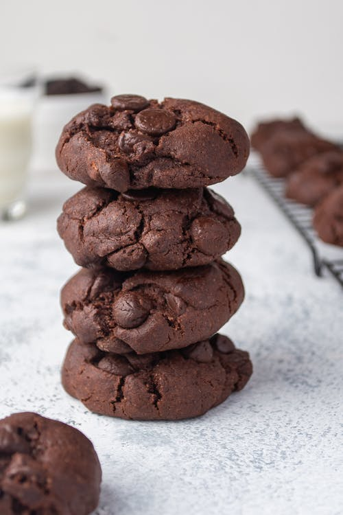 Brown Cookies on White Table