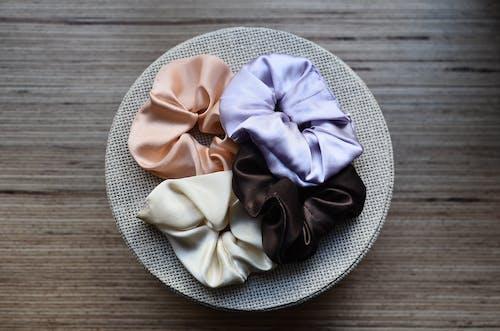 Set of hair ties on decorative box