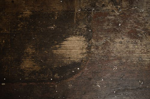 Old wooden surface of plank with cracks
