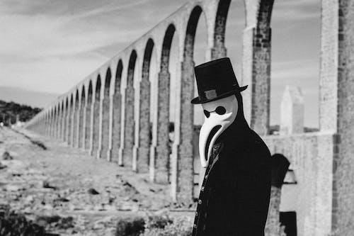 Imagine de stoc gratuită din Adobe Photoshop, alb-negru, anonim