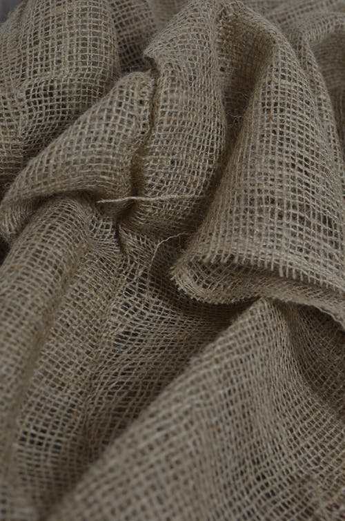 Background of eco friendly textile with creased surface