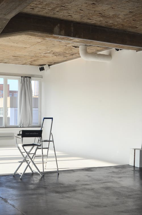Interior of empty studio with chair