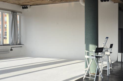 Interior of empty room with chairs