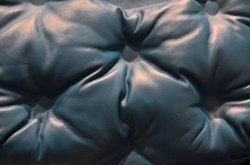 Textil Azul Sobre Textil Negro