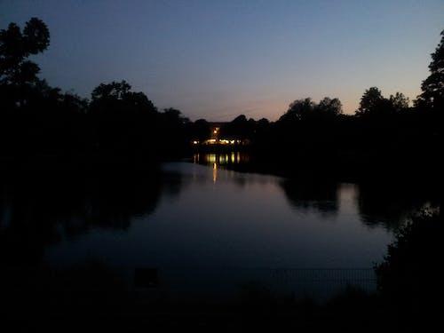 Free stock photo of night, water