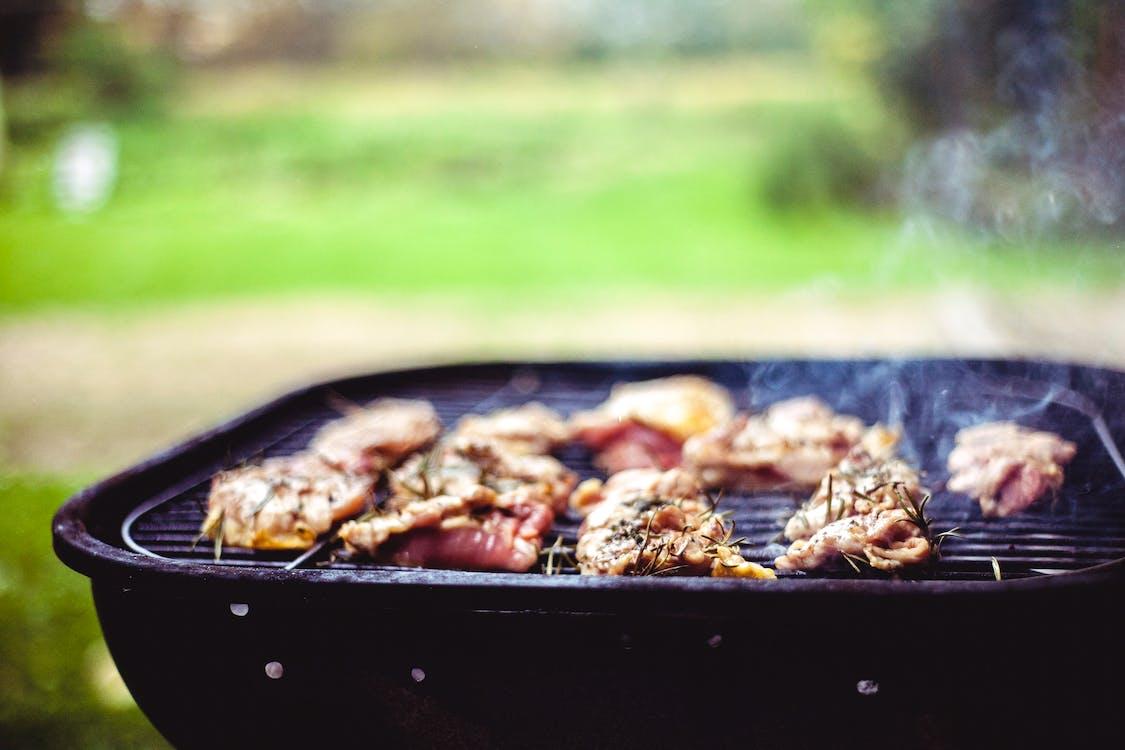 alimento, almoço, carne
