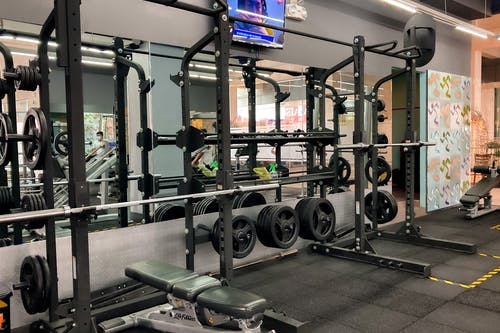 Black and Gray Exercise Equipments