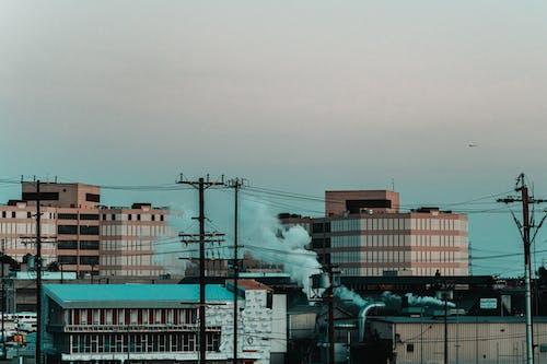 Δωρεάν στοκ φωτογραφιών με Los Angeles, βιομηχανική περιοχή, γκρίζος ουρανός