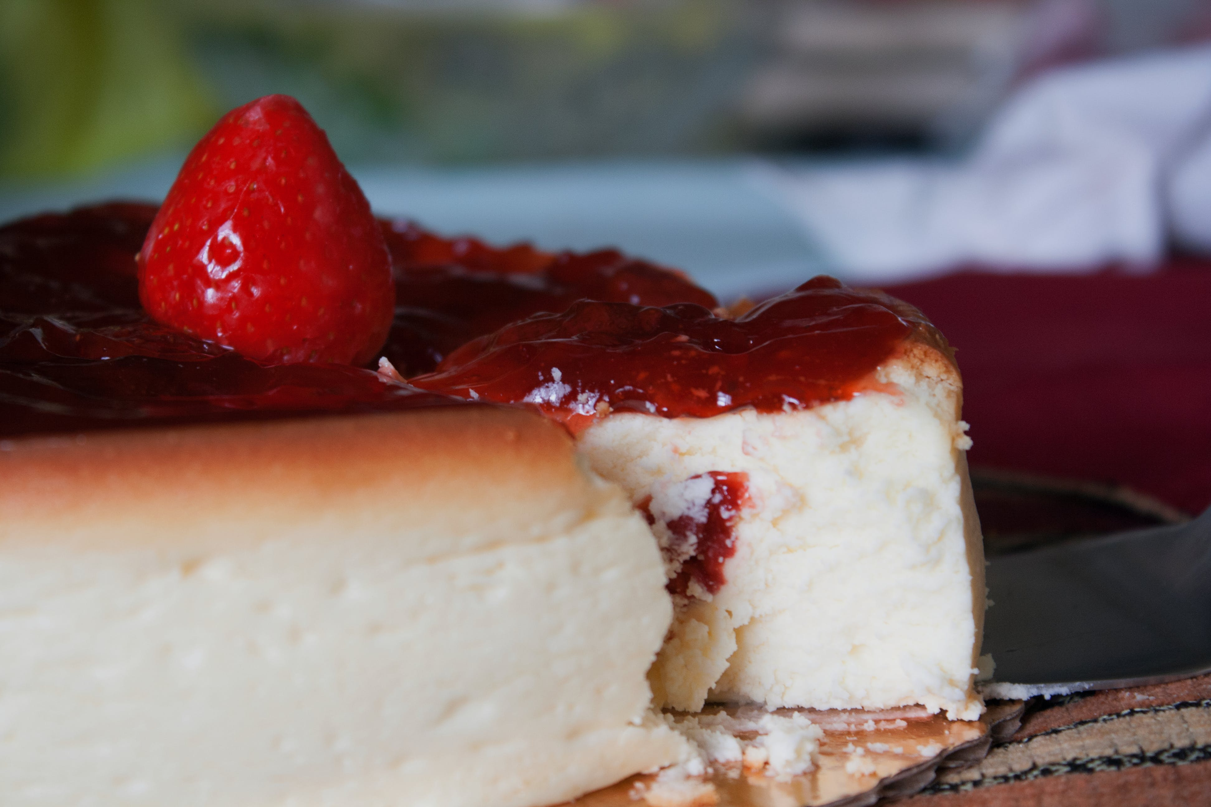 Free stock photo of cheesecake, food, strawberries