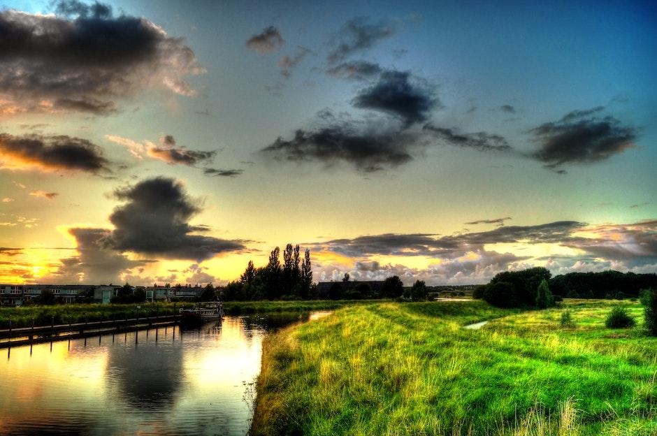 countryside, dawn, dusk