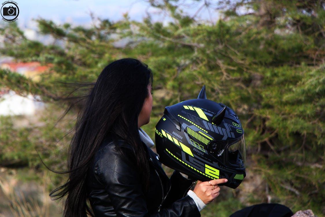 driving, girl, helmet