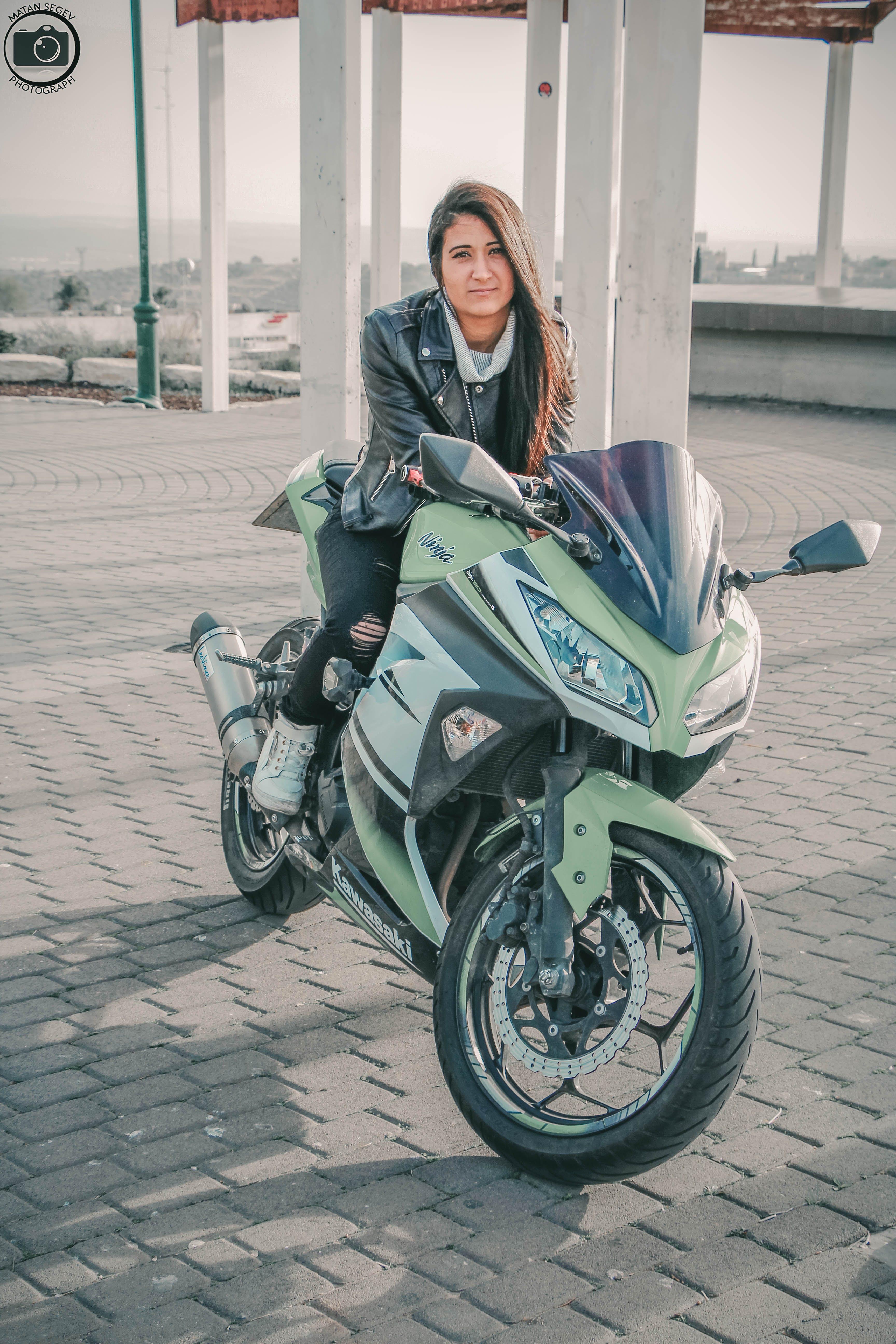 Free stock photo of girl, women, motorcycle, hair