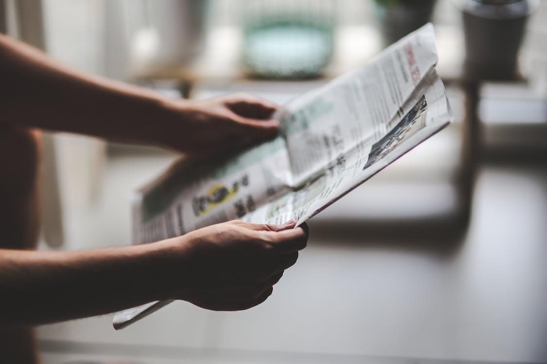 časopis, čítanie, denník