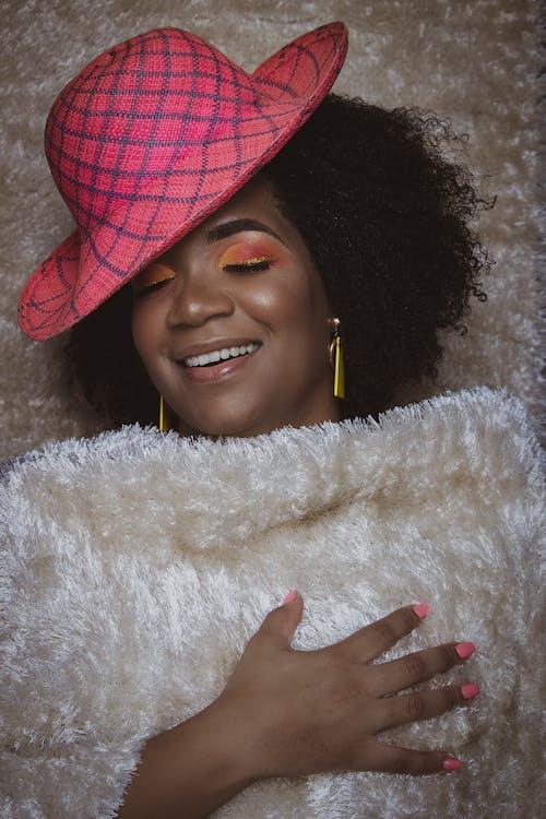 Foto stok gratis afro, berbahagialah, cewek, cute
