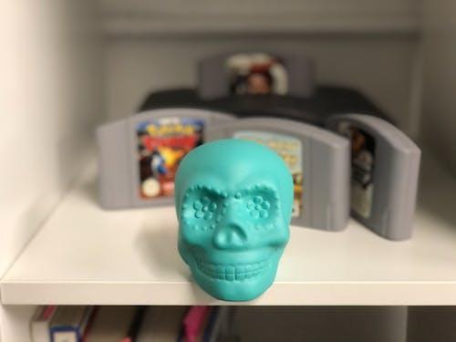 Free stock photo of arcade, blue, blue skull