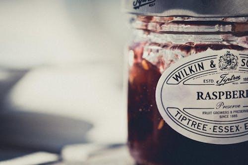 Základová fotografie zdarma na téma džem, konzervované ovoce, malina, snídaně