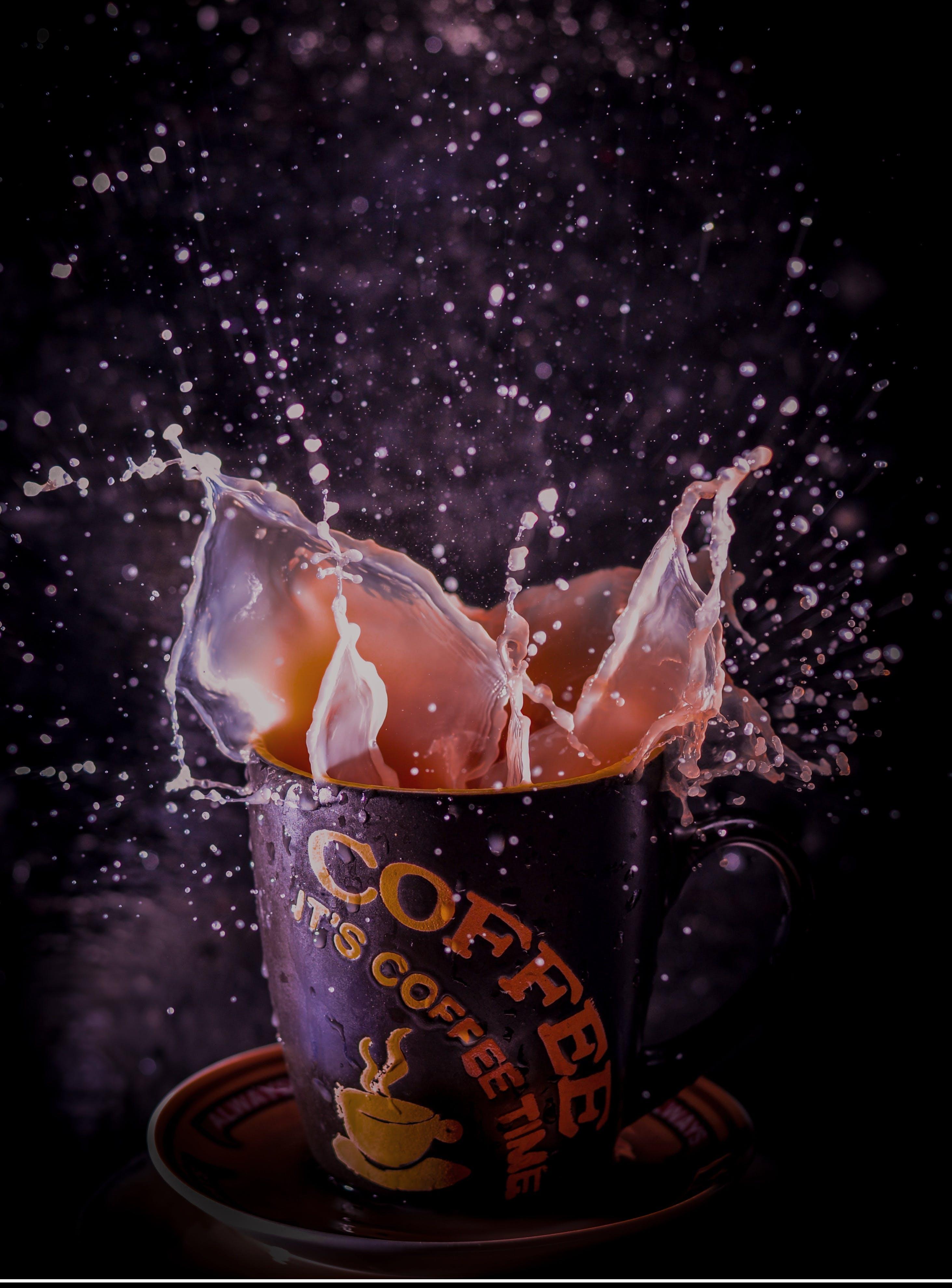 Free stock photo of Coffee, splash