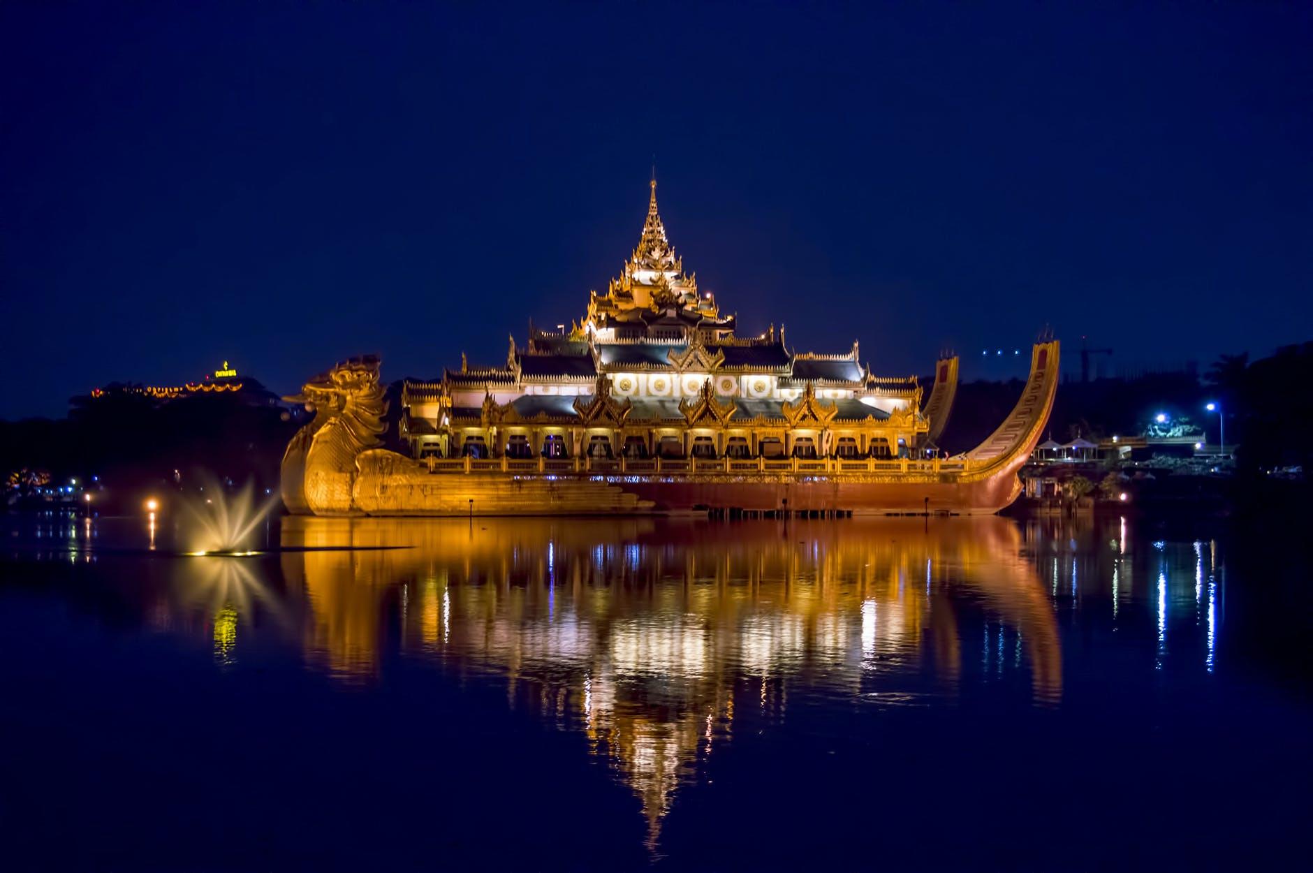 Free stock photo of Karaweik, myanmar, Yangon city