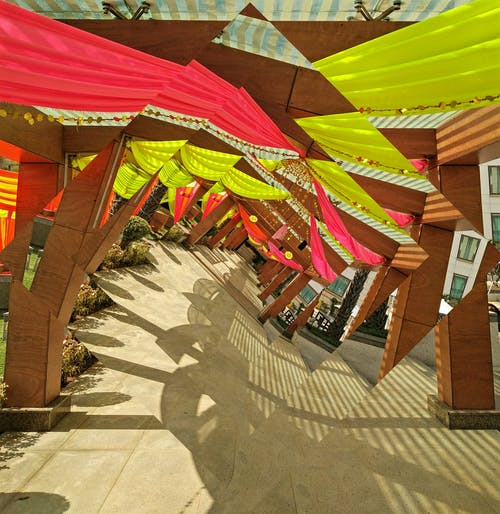 Free stock photo of colours, indian wedding, walkway