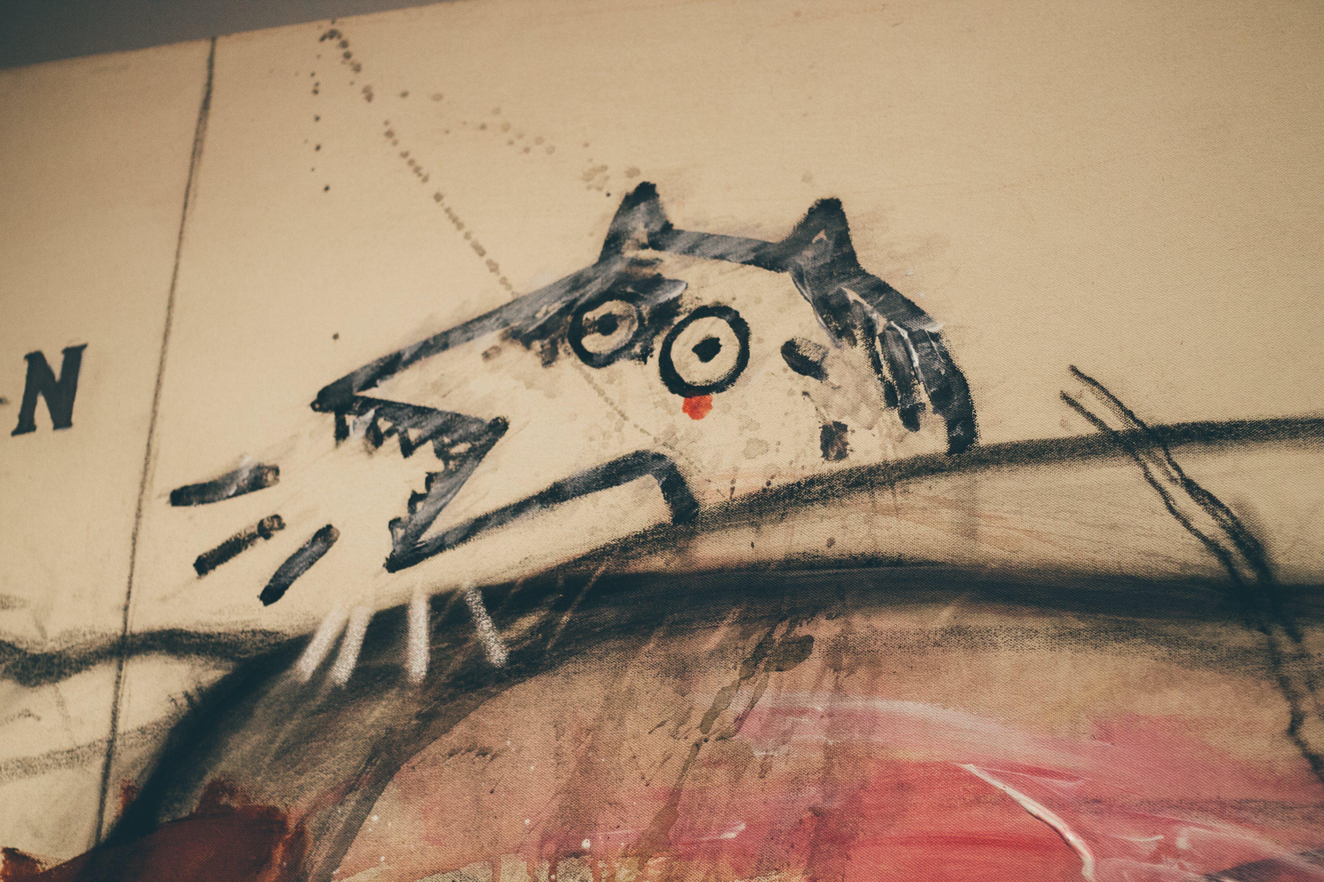 Free stock photo of art, painting, wolf