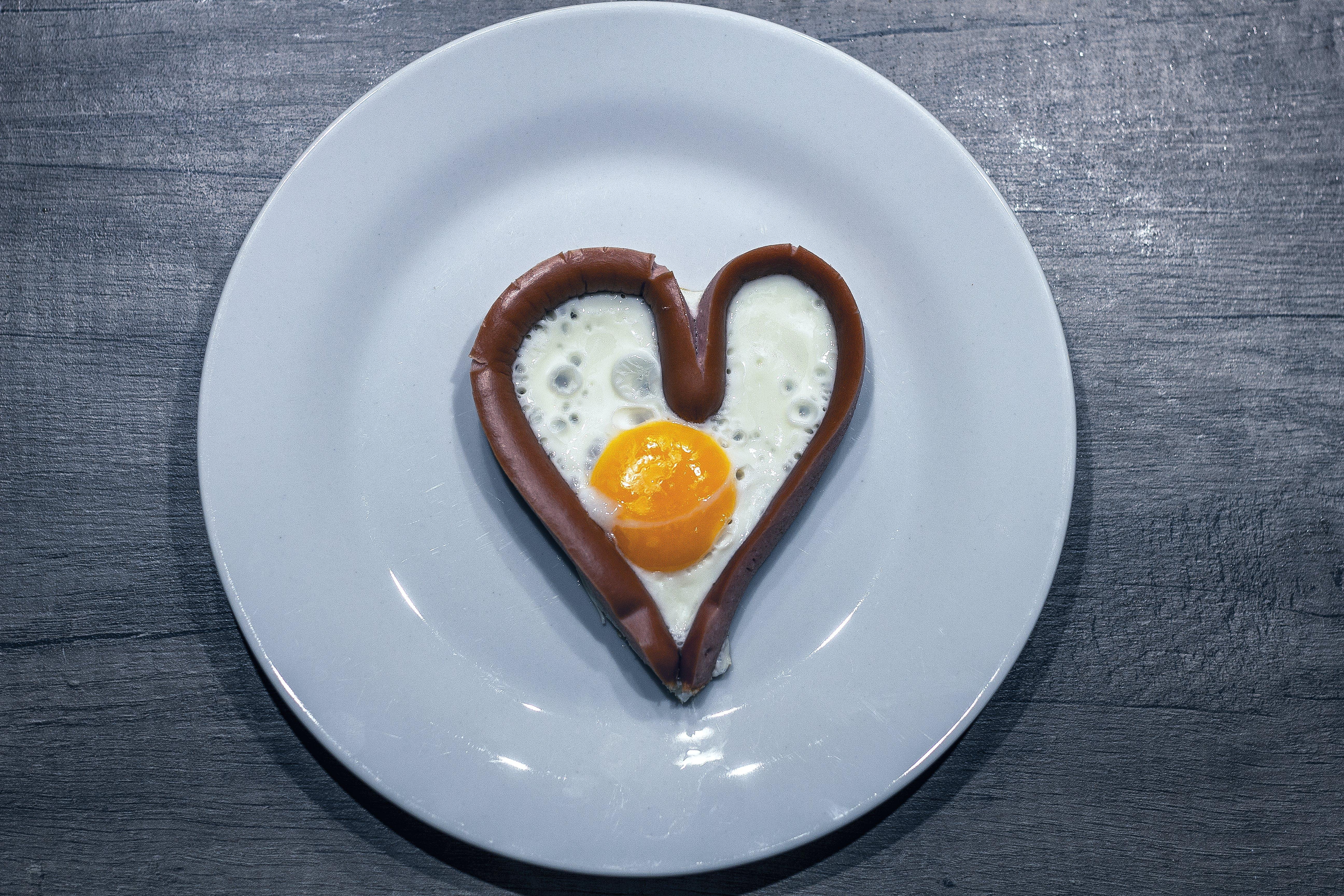 Free stock photo of black white, decor, egg, Fried egg