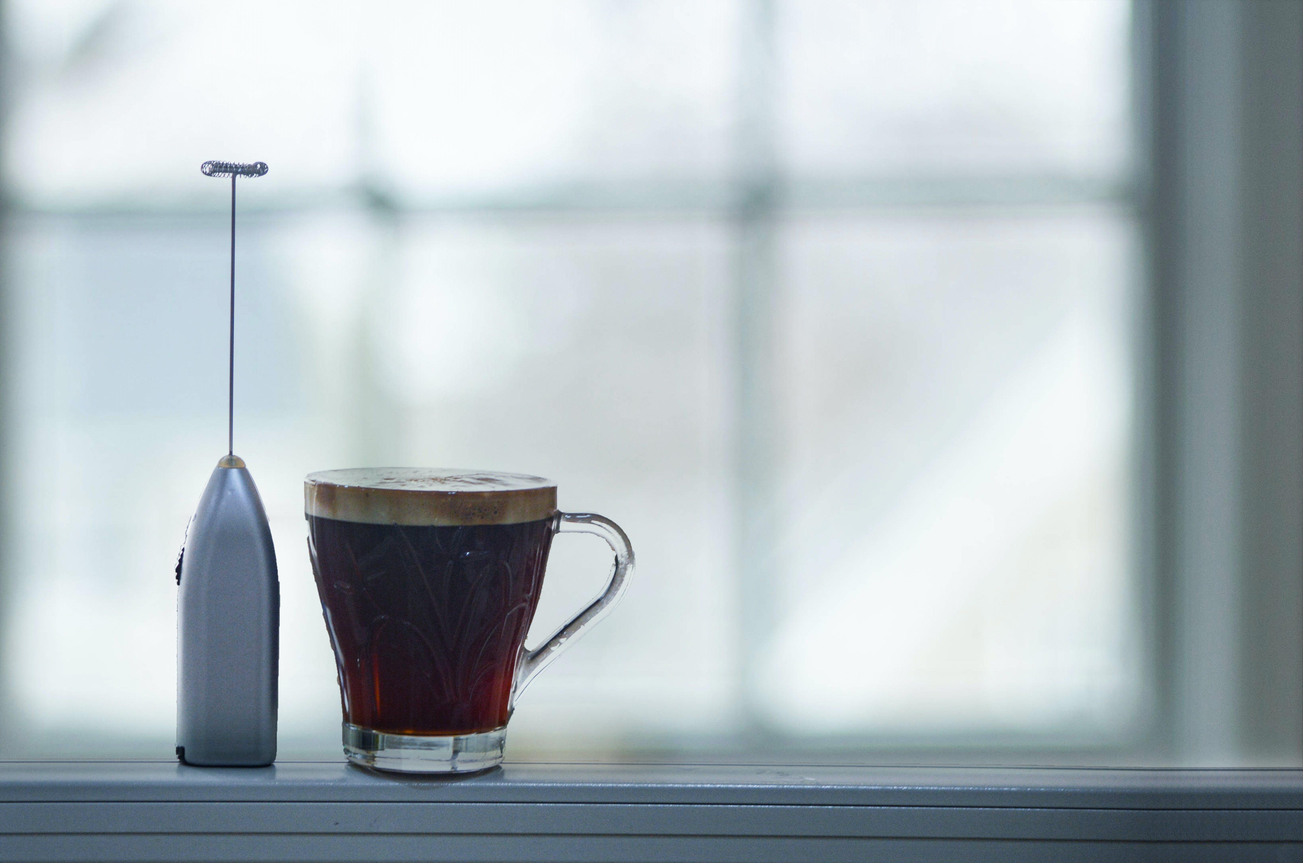 Free stock photo of black coffee, mixer, morning, window