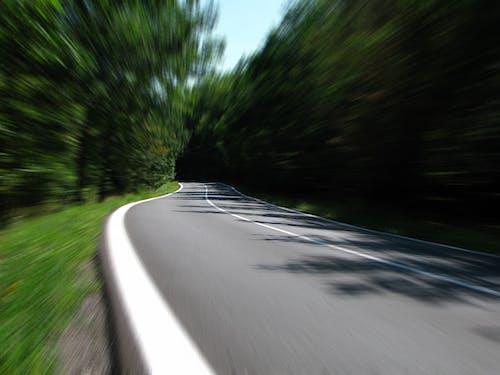 Lane, アスファルト, ぼやけて, モーションブラーの無料の写真素材