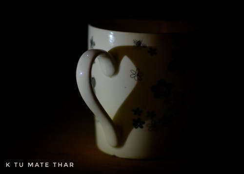 Free stock photo of cup, heart, love