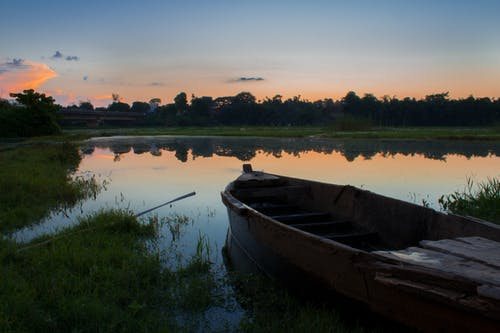 Free stock photo of boat, evening sky, landscape, nature