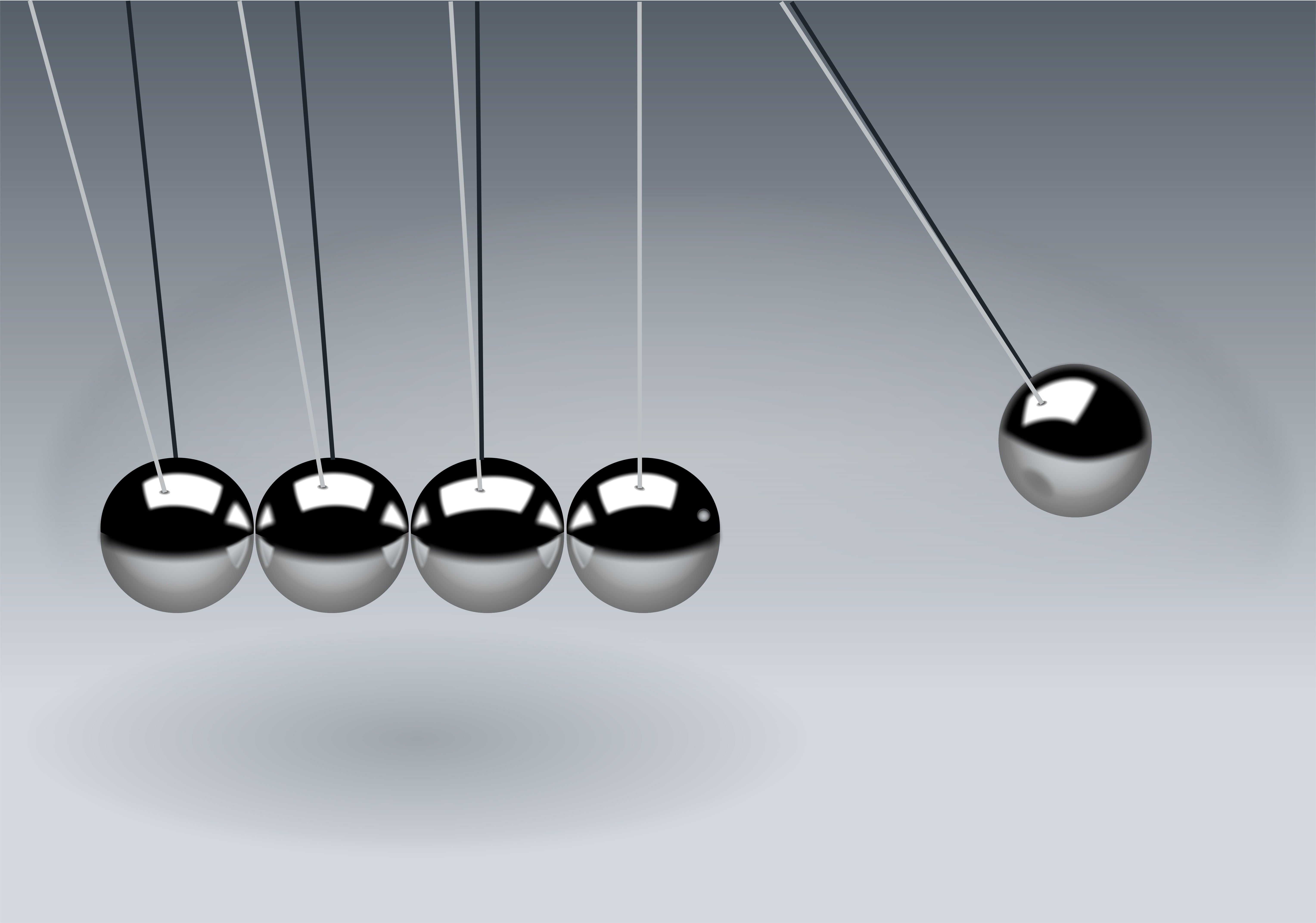 Gray Newton's Cradle in Close-up Photogaphy