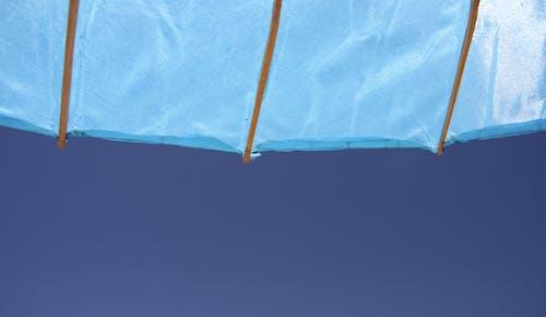 Free stock photo of blue, parasol