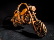 wood, wooden, motorcycle