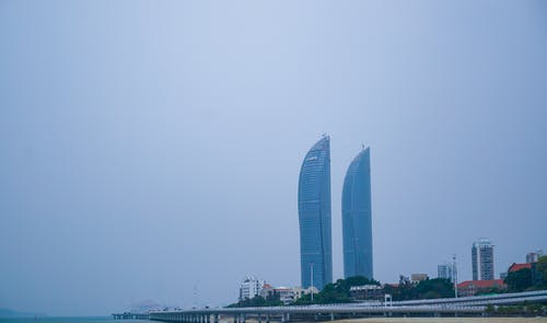 Free stock photo of twin towers