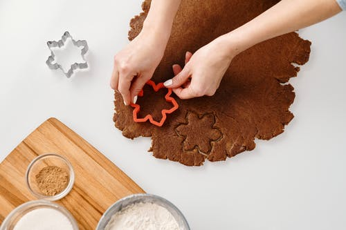 Person Using a Cookie Cutter