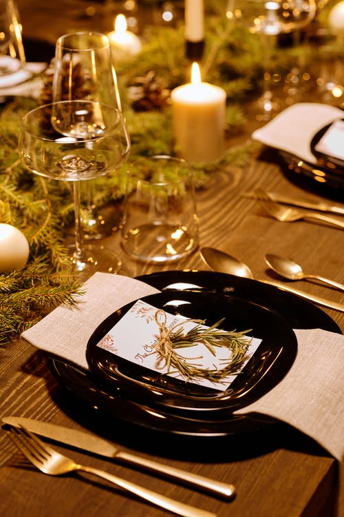 Elegant Table Set-Up for Christmas