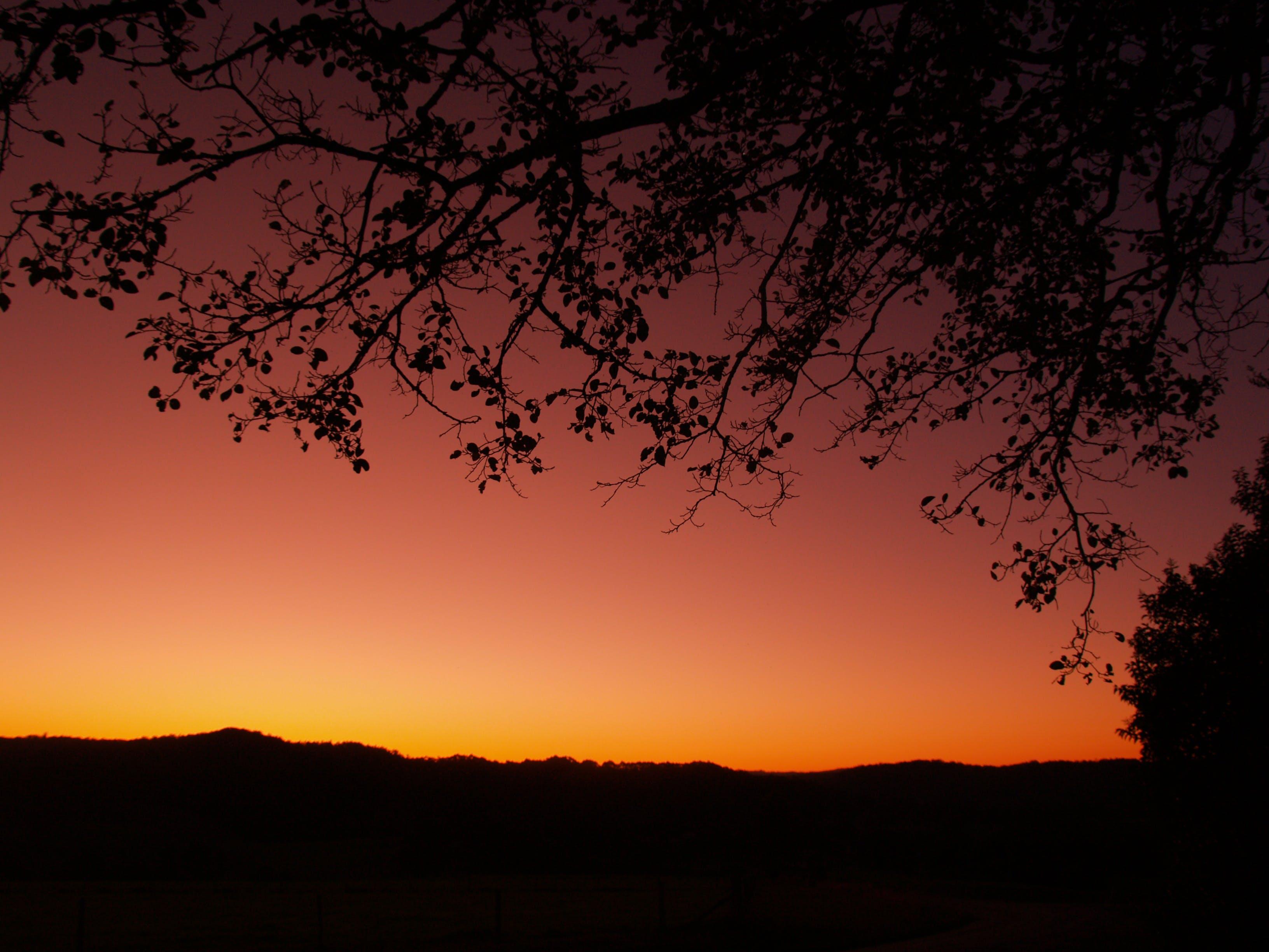 Free stock photo of mountains, sunset, skyline, silhouette