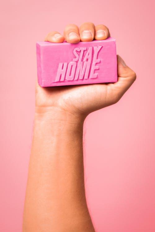 коробка с розовым и черным принтом I Love You