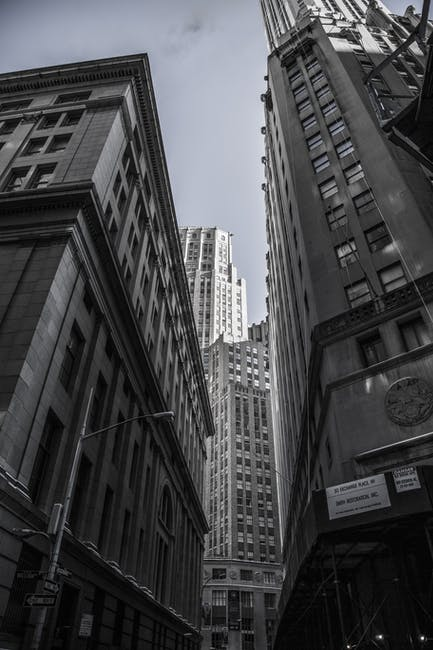 New free stock photo of black-and-white, city, buildings