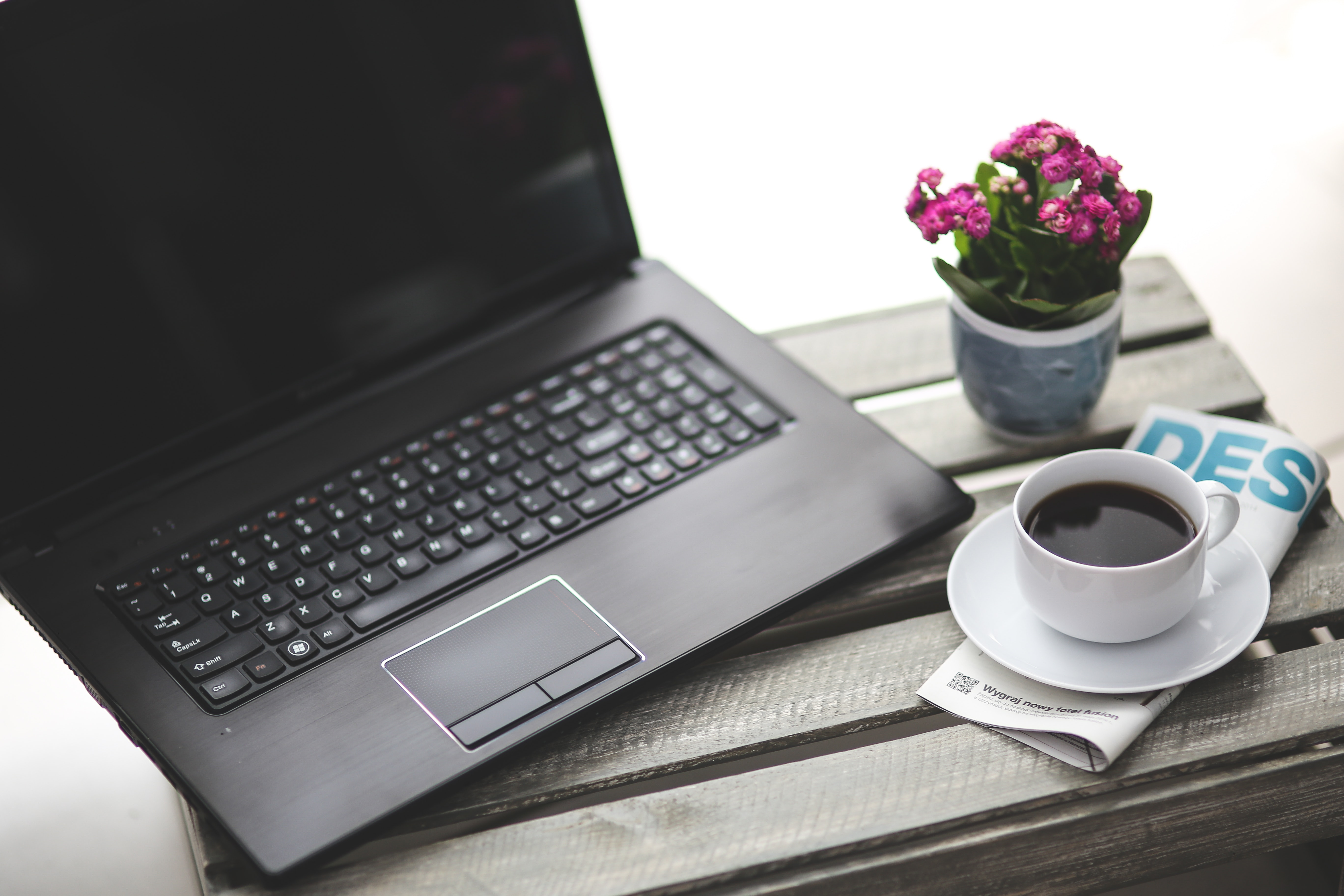 Work With Coffee Free Stock Photo