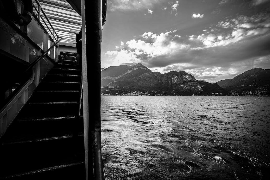 Free stock photo of black, black and white, como