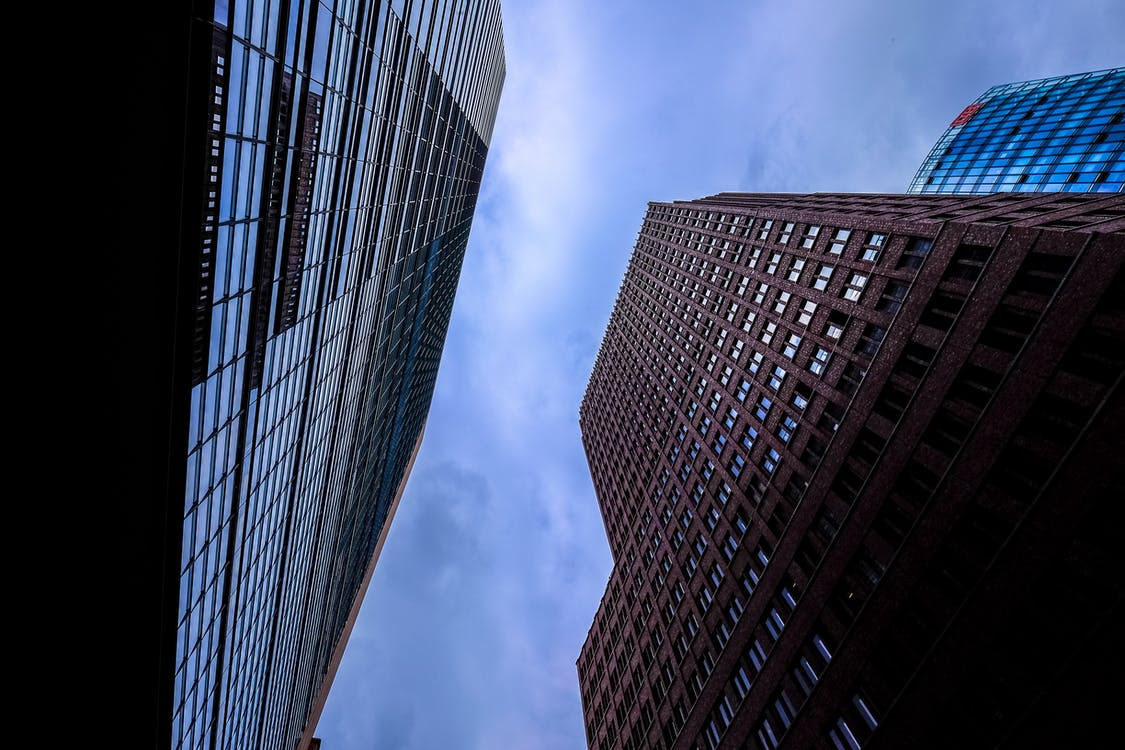 Low Angle Photography of a Two High-rise Buildings