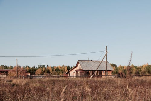 Old rural house in countryside area