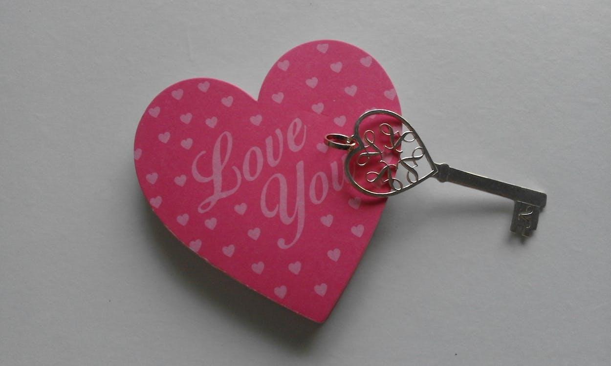 Free stock photo of heart, key, love