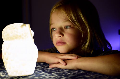 Free stock photo of blonde hair, Deep in thought, Glowing owl, night lights