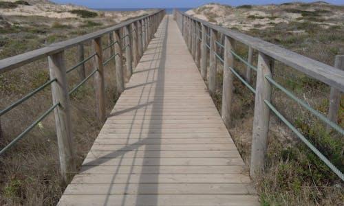 Free stock photo of beach, bridge, folow