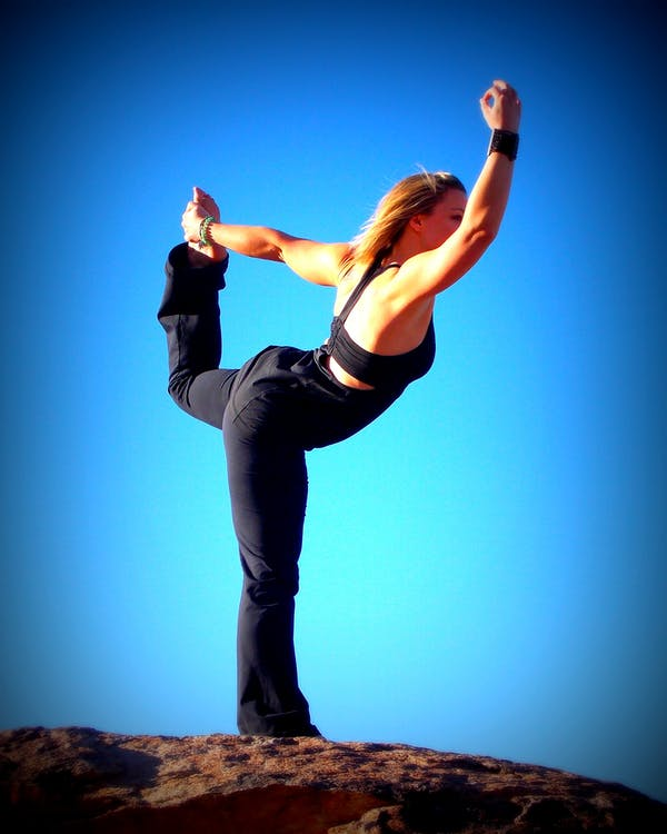 fitness, kvinde, meditation