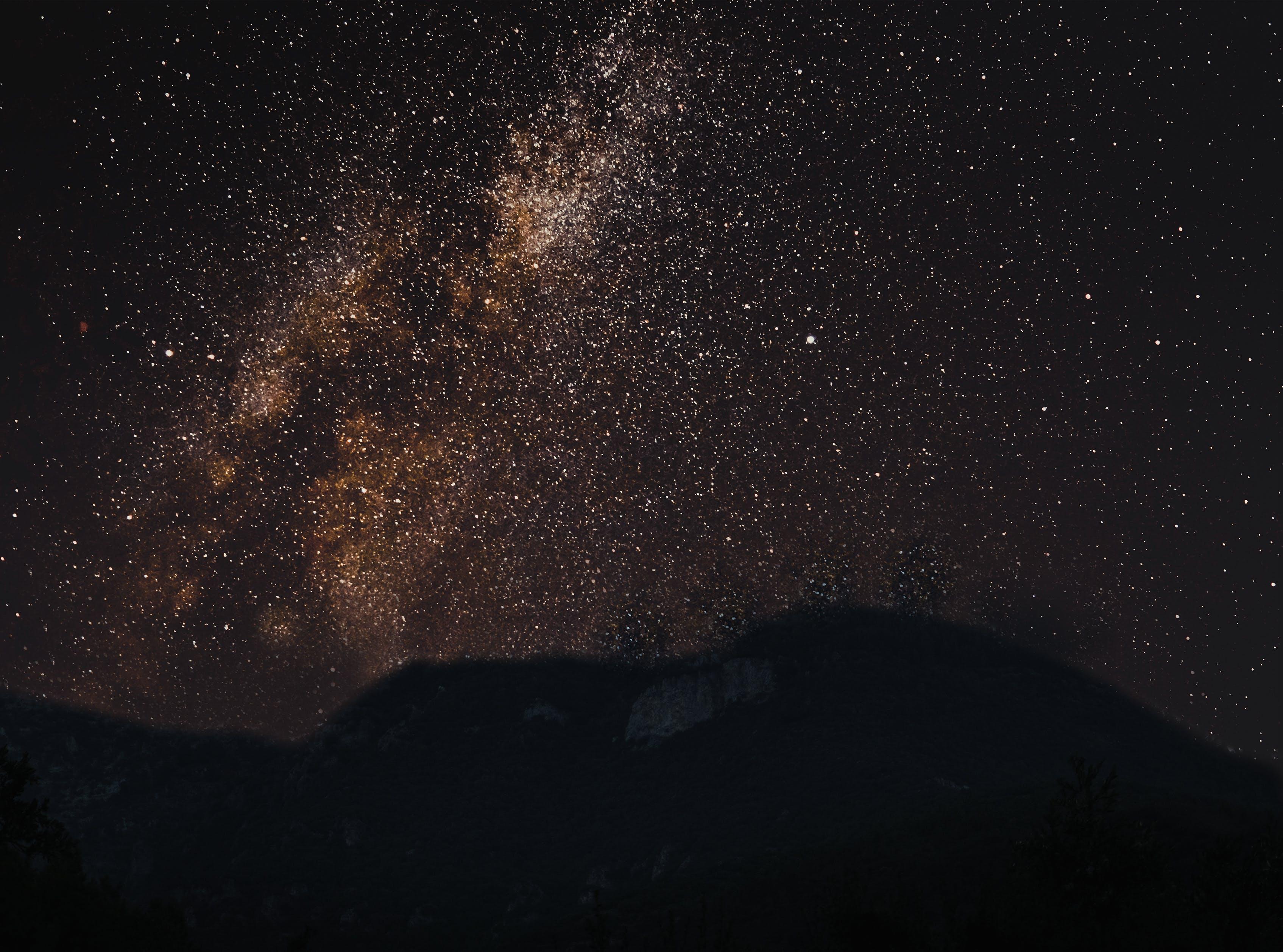 Free stock photo of beautiful, dark, galaxy, landscape