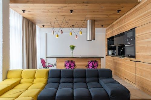 Interior of stylish studio flat