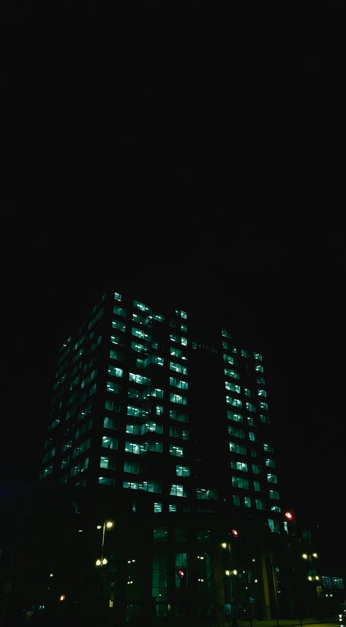 Free stock photo of architecture, at night, building