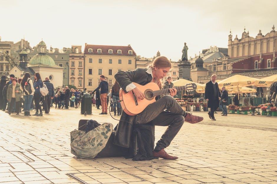 Streets music musician street art